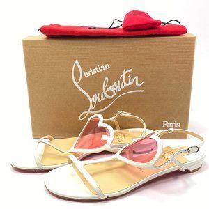 Christian Louboutin Cora Flat Heart Sandals 38